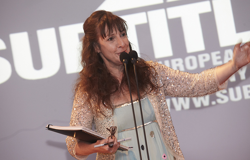 Pauline McLynn hosting The ANGELAS European Film Awards at SUBTITLE Festival Kilkenny